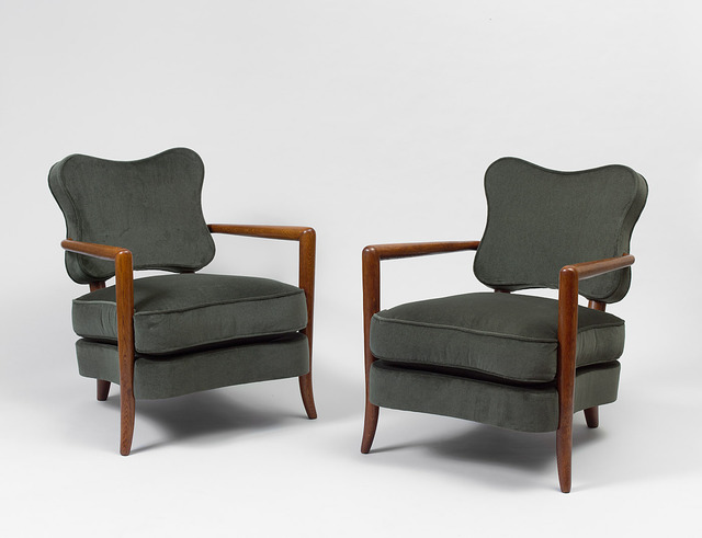 ", 'Pair of ""trefle"" armchairs,' ca. 1948, Galerie Jacques Lacoste"