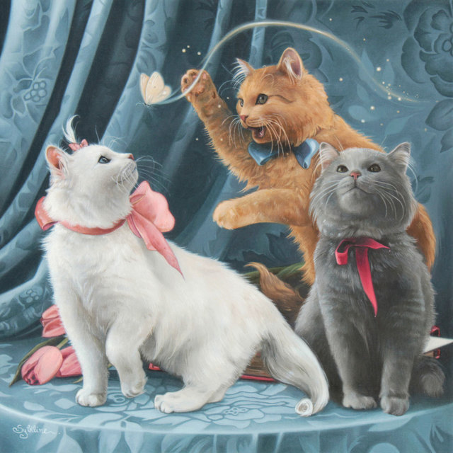 , 'Marie, Toulouse, and Berlioz (The Aristocats),' 2018, Modern Eden