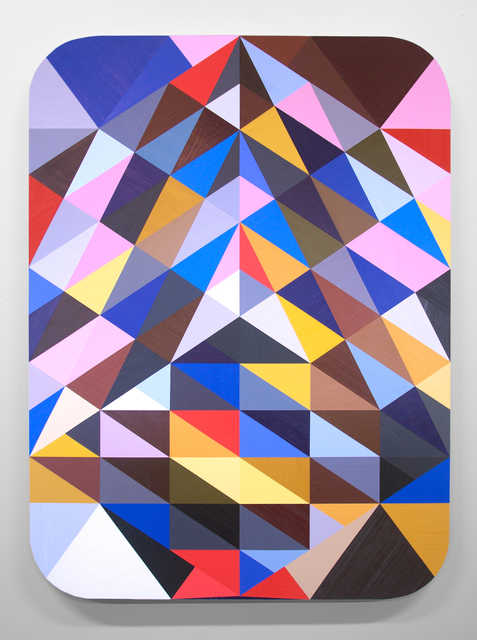 , 'SLATE: Hard Edge Triangle No 6 (randomly generated),' 2015, Erin Cluley Gallery