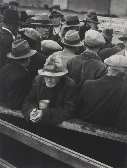 Dorothea Lange, 'White Angel Bread Line, San Francisco', 1933, Photography, Gelatin silver print, Christie's