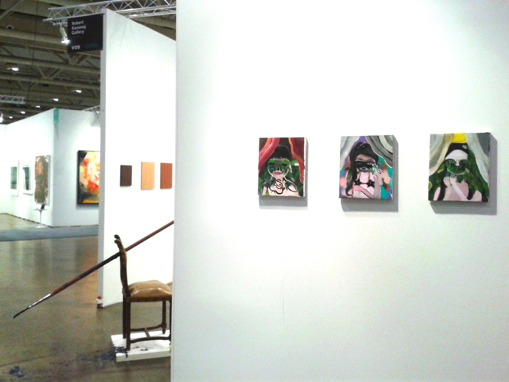 Installation view: Silvia Argiolas (oil on canvas), Qendrim Hoti, Stevie Ellis