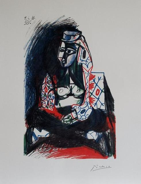 Pablo Picasso, 'Femme accroupie VI', 1983, Print, Lithograph after sketch on Arches paper, Samhart Gallery