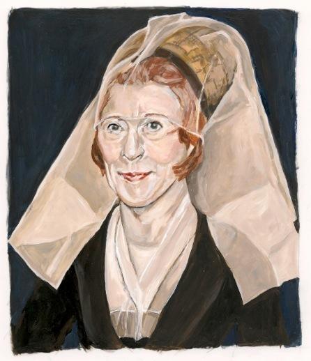 , 'After Van Der Weyden: New York Art Patron as a Lady,' 2015, Cynthia Corbett Gallery