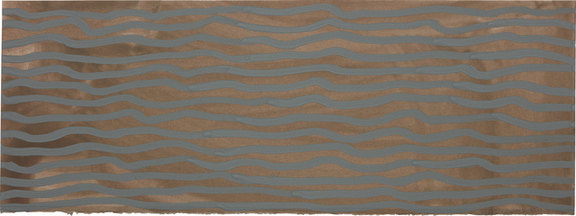 Sol LeWitt, 'Wavy Brushstrokes (brown and blue)', 2002, Phillips