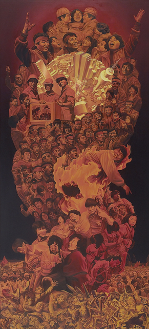 , 'The June Democratic Uprising and the Laborer's Demonstration of July and August,' 1991, Hakgojae Gallery