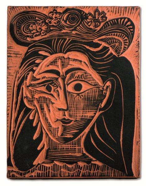 Pablo Picasso, 'Femme au chapeau fleuri', 1964, HELENE BAILLY GALLERY