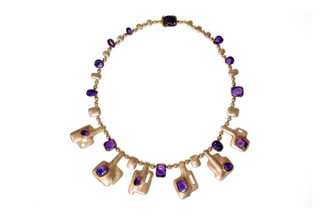 , 'Gold and Carved Tourmaline Necklace,' 1965, The Jewish Museum