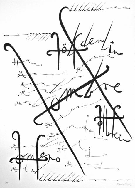 Rafael Alberti, 'Letter H in black and white', 1972, Wallector
