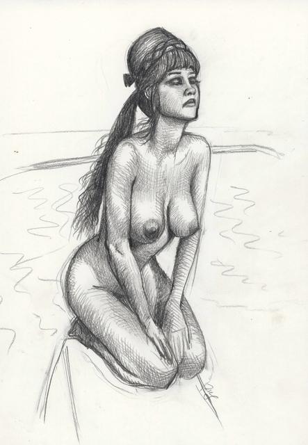 Mitch Gillette, 'Sunbather (Drawing)', 2000, InLiquid