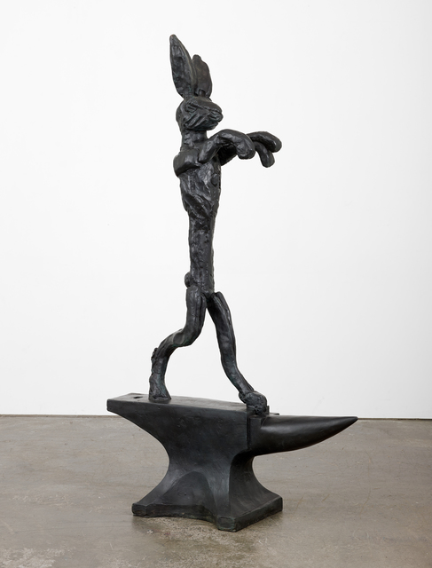 , 'Large Boxing Hare on Anvil,' 1984, Paul Kasmin Gallery