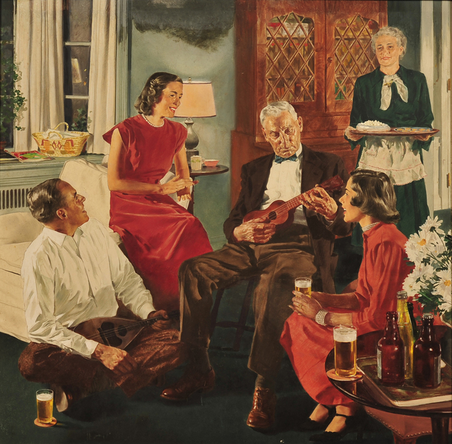 Douglass Crockwell, 'The Family Gathering, Beer Belongs Advertisment', 1941, The Illustrated Gallery