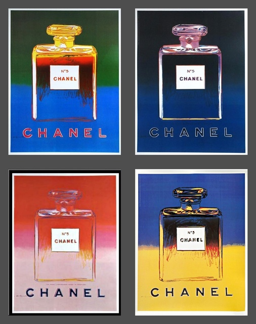 Andy Warhol, 'Chanel No. 5  (Suite of Four (4) Separate  Limited Edition Works on thin linen canvas backing)', 1997, Alpha 137 Gallery
