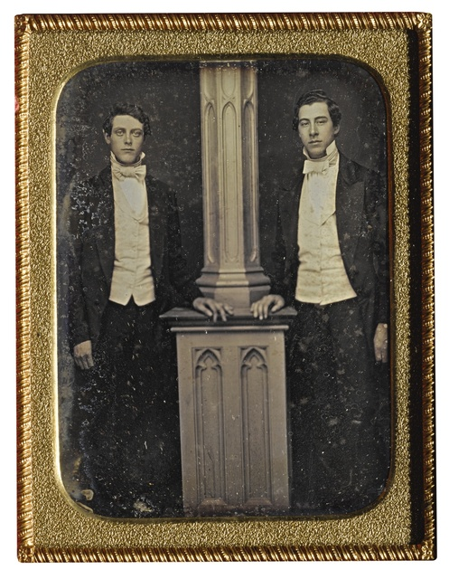 Anonymous American Photographer, 'Well-Dressed Men Posed by Column', Sotheby's