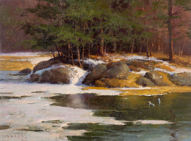 Donald W. Demers, 'The Thaw, Brave Boat Harbor, York, Maine', 21st Century, Vose Galleries