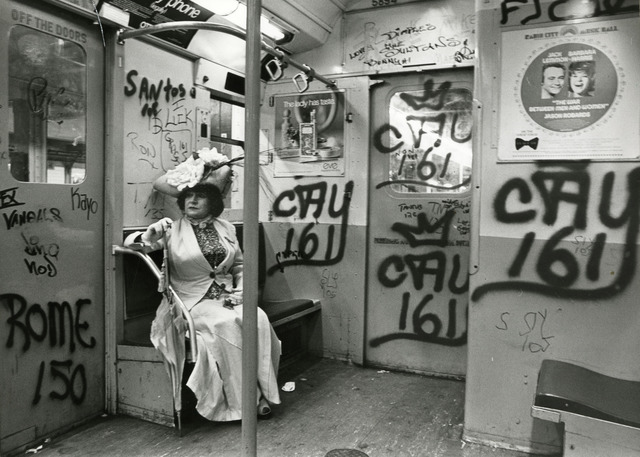 , 'Editta Sherman on the Subway,' ca. 1968-1976, New York Historical Society