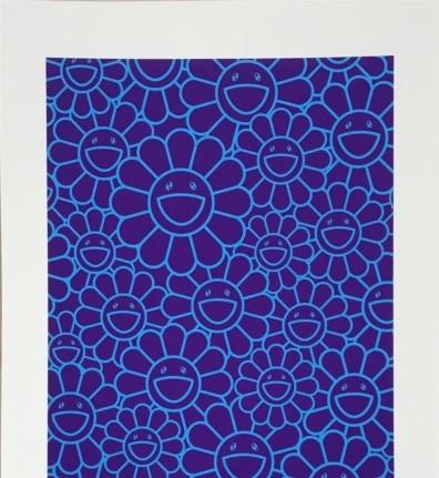 Takashi Murakami, 'MAY SHOWER SILKSCREEN (BLUE/PURPLE FLOWERS)', 2019, Dope! Gallery