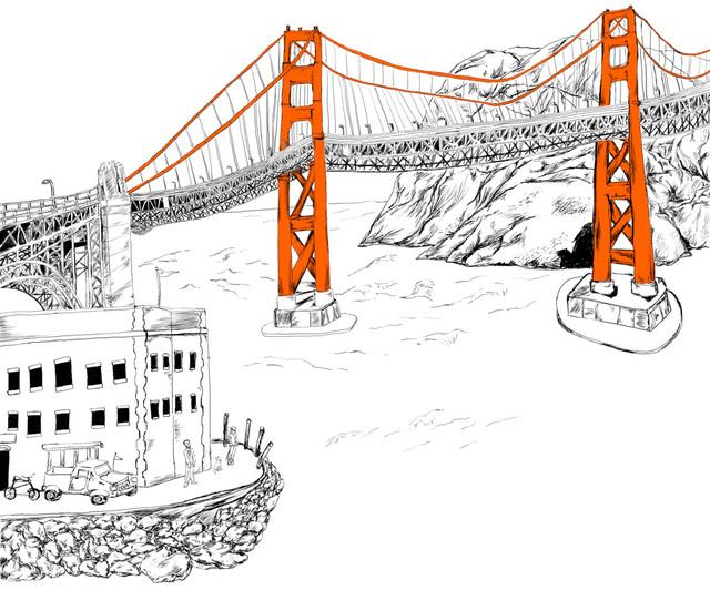 Gerald Wiggins, 'Golden Gate Bridge', 2016, Creativity Explored