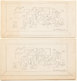 Untitled, 1937 and Mural Study, 1937