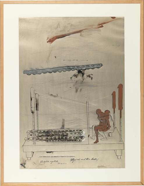 , 'Ein Mann beisst dem anderen Mann in den Rücken (Guss nach Menschenmodell),' ca. 1978, Galerie Elisabeth & Klaus Thoman