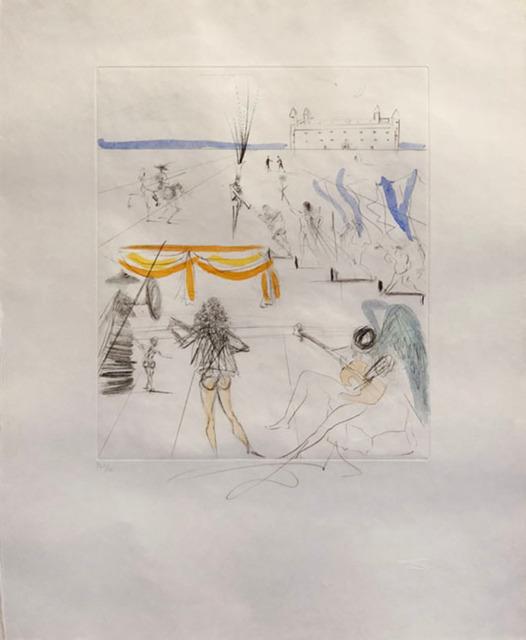 Salvador Dalí, 'Santiago of Compostella ', 1969, Print, Original etching, Galerie d'Orsay