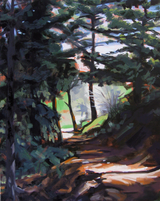 Tracy Wall, 'Sunlight on Beaver Brook Trail', 2015, Abend Gallery