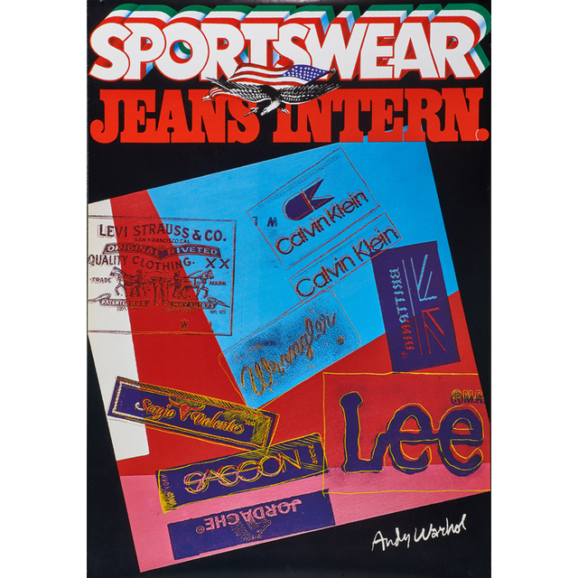 Andy Warhol, 'Sportswear Jeans  Intern', 1984, Print, Offset lithograph in colors, Rago/Wright