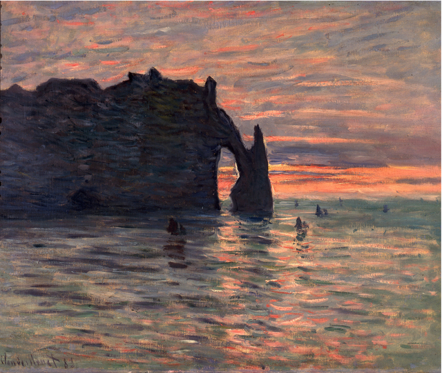 , 'Sunset at Étretat,' 1883, ARoS Aarhus Art Museum