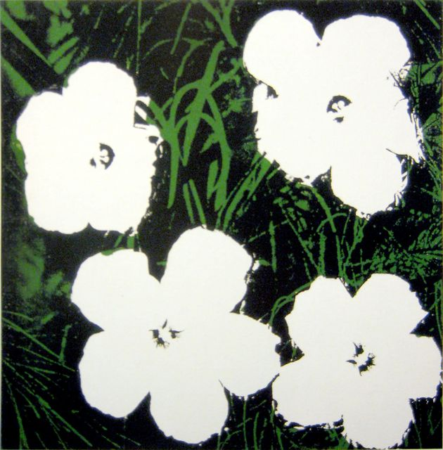 Andy Warhol, 'Flowers (Four White Flowers on Green & Black Background)', 1964, Joseph K. Levene Fine Art, Ltd.