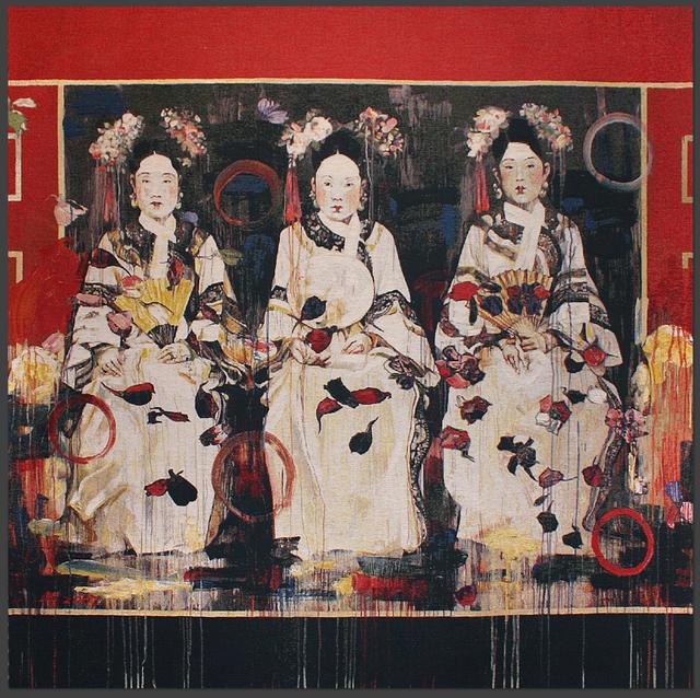 Hung Liu, '3 Fujin of a Prince', Melissa Morgan Fine Art