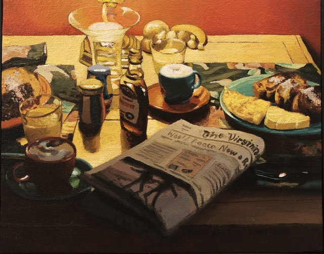 James Warwick Jones, 'Breakfast with Newspaper ', 2002, Linda Matney Gallery