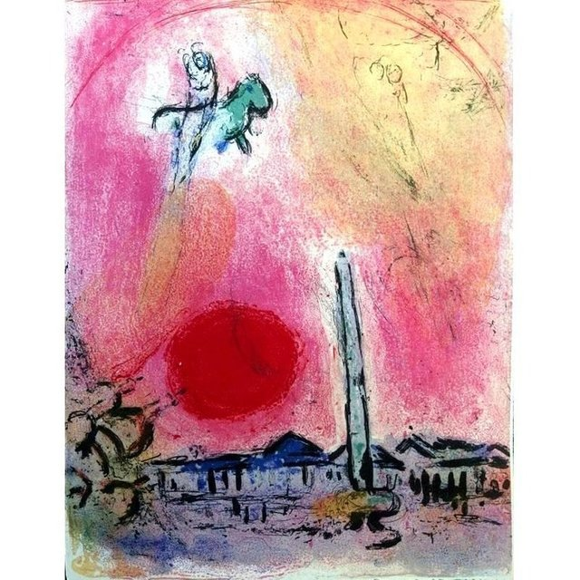 """Marc Chagall, 'Original Lithograph """"La place de la concorde"""" by Marc Chagall', 1962, Galerie Philia"""