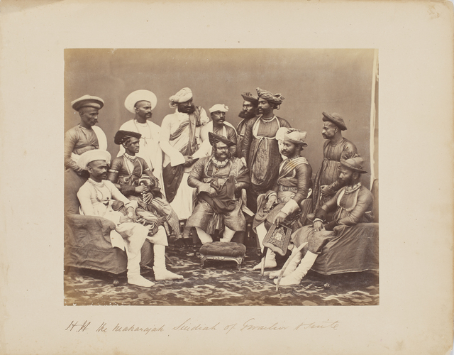 , 'Maharajah Scindia of Gwalior with his suite,' c. 1860s, Sarmaya