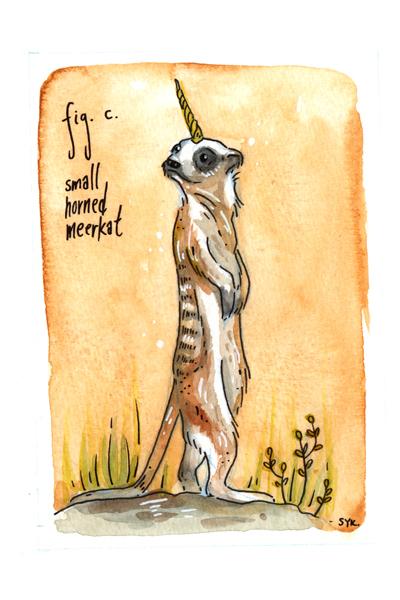 , 'Small Horned Meerkat,' 2017, Flower Pepper Gallery