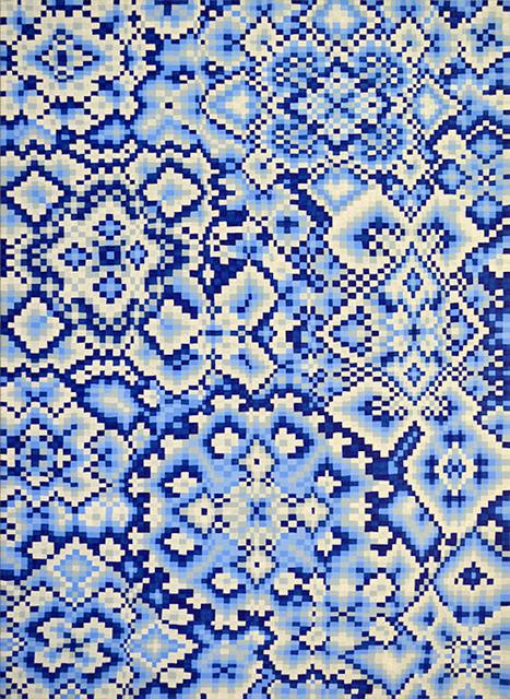 , 'Blue Grid #2,' 2017, Asya Geisberg Gallery