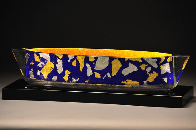 John Lewis, 'Blue Confetti Steamer Vessel', 2009, Montague Gallery