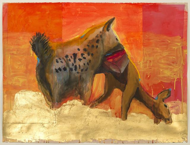 , 'Scene with Hyena and Gazelle,' 2016, Albert Merola Gallery
