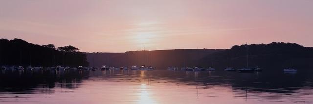 , 'Sunrise over the Moorings - Loe Beach,' , Beside the Wave