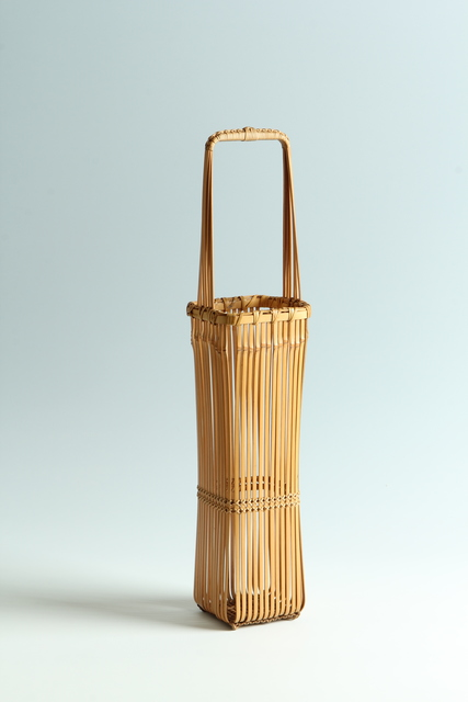 ", '""A Thousand Lines"" Blond-Bamboo Handled Flower Basket (T-3956),' Showa era (1926-89) 1970s, Erik Thomsen"
