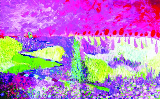 Kiyoka Yamagata, 'Beyond To Hill', 2016, Walter Wickiser Gallery