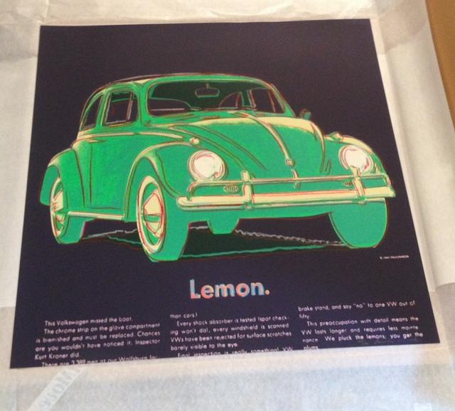 Andy Warhol, 'Volkswagen', 1985, Gallery HAAS & GSCHWANDTNER