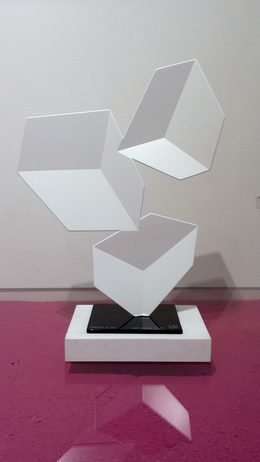 Rafael Barrios, 'Centrifuge F172 - White Pearl', 2016, Sculpture, Steel sculpture and polyurethane acrylic lacquer, Bel-Air Fine Art