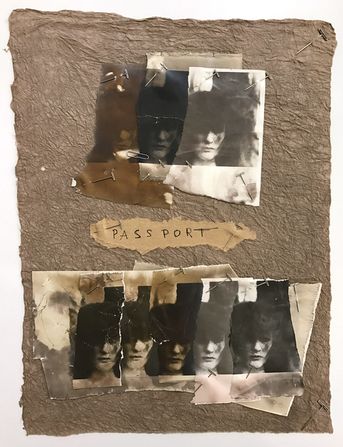 ", 'Untitled (Woman in the Woods ""Passport"" collage), 1977,' 1977, Deborah Bell Photographs"