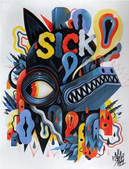Niark1 Sebastien Feraut, 'Sick Wolf', 2015, Coleccion SOLO