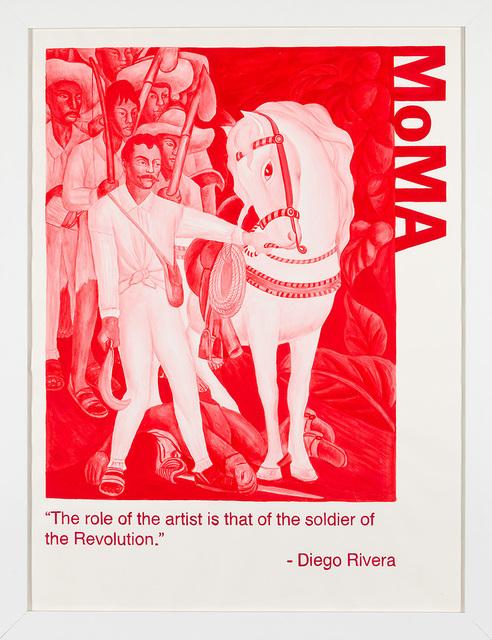Yevgeniy Fiks, 'Communist Tour of MoMA (Diego Rivera)', 2010, Winkleman Gallery