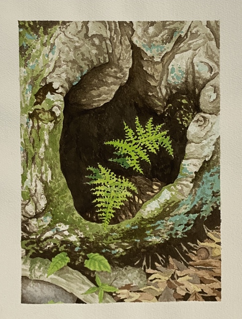 Sean Cavanaugh, 'Old Growth Vase', 2003, Drawing, Collage or other Work on Paper, Watercolor and gouache, Friends Seminary Benefit Auction