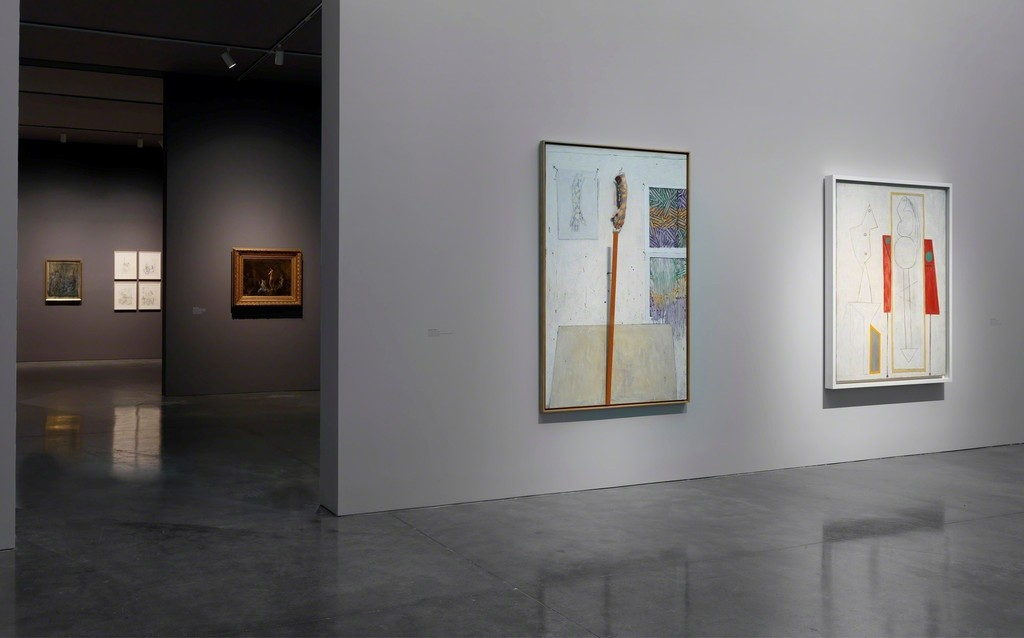 Far left: © Alberto Giacometti   Estate/Licensed by VAGA and ARS,  New York, NY  Near left to right: © Jasper   Johns/Licensed by VAGA, New York;   © 2015 Estate of Pablo Picasso/Artists   Rights Society (ARS), New York  © Gagosian Gallery. Photo   by Robert McKeever