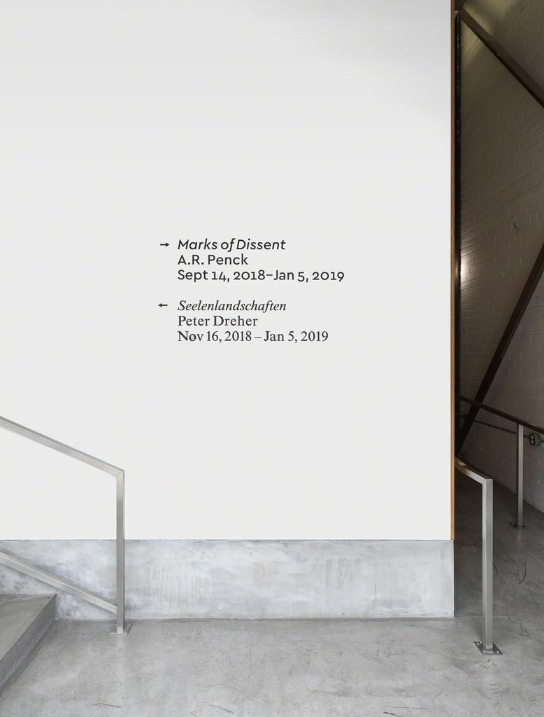 Peter Dreher, Seelenlandschaften, Installation View (installation view, Koenig & Clinton, Brooklyn).
