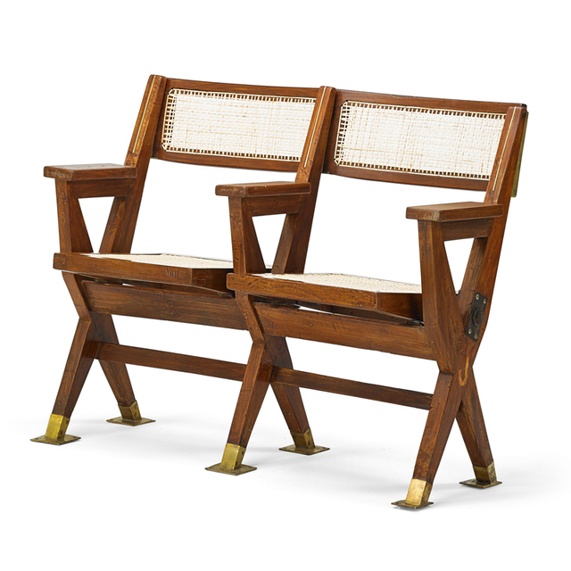 Fantastic Pierre Jeanneret Two Seat Cinema Bench From The Tagore Caraccident5 Cool Chair Designs And Ideas Caraccident5Info