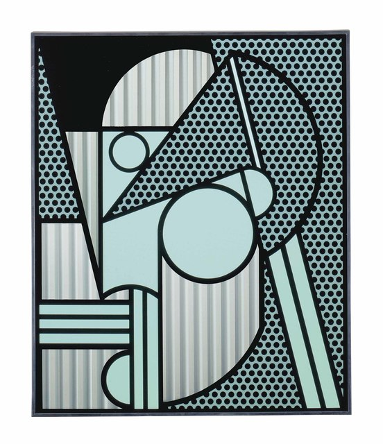 Roy Lichtenstein, 'Modern Head #4', 1970, Print, Serigraph on Anodized Aluminum, Peter Blake Gallery