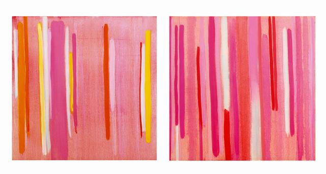 Anastasia Pelias, 'Lucky Stripe, Rosy (diptych)', 2000, Jonathan Ferrara Gallery